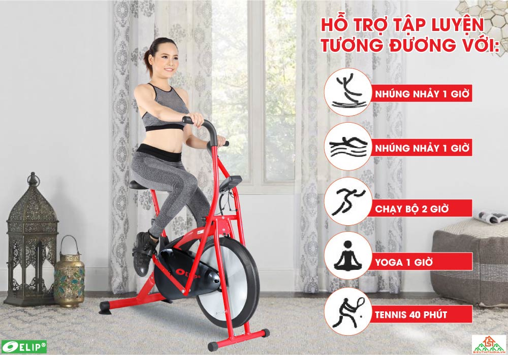 tác dụng Xe đạp tập Elip Zalo