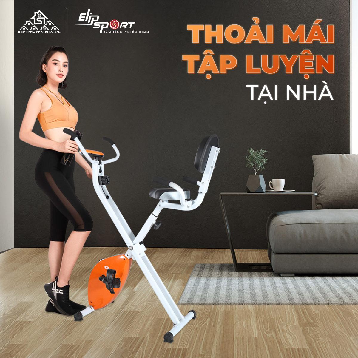 lợi ích Xe đạp tập Elip Mona với nhóm cơ bắp