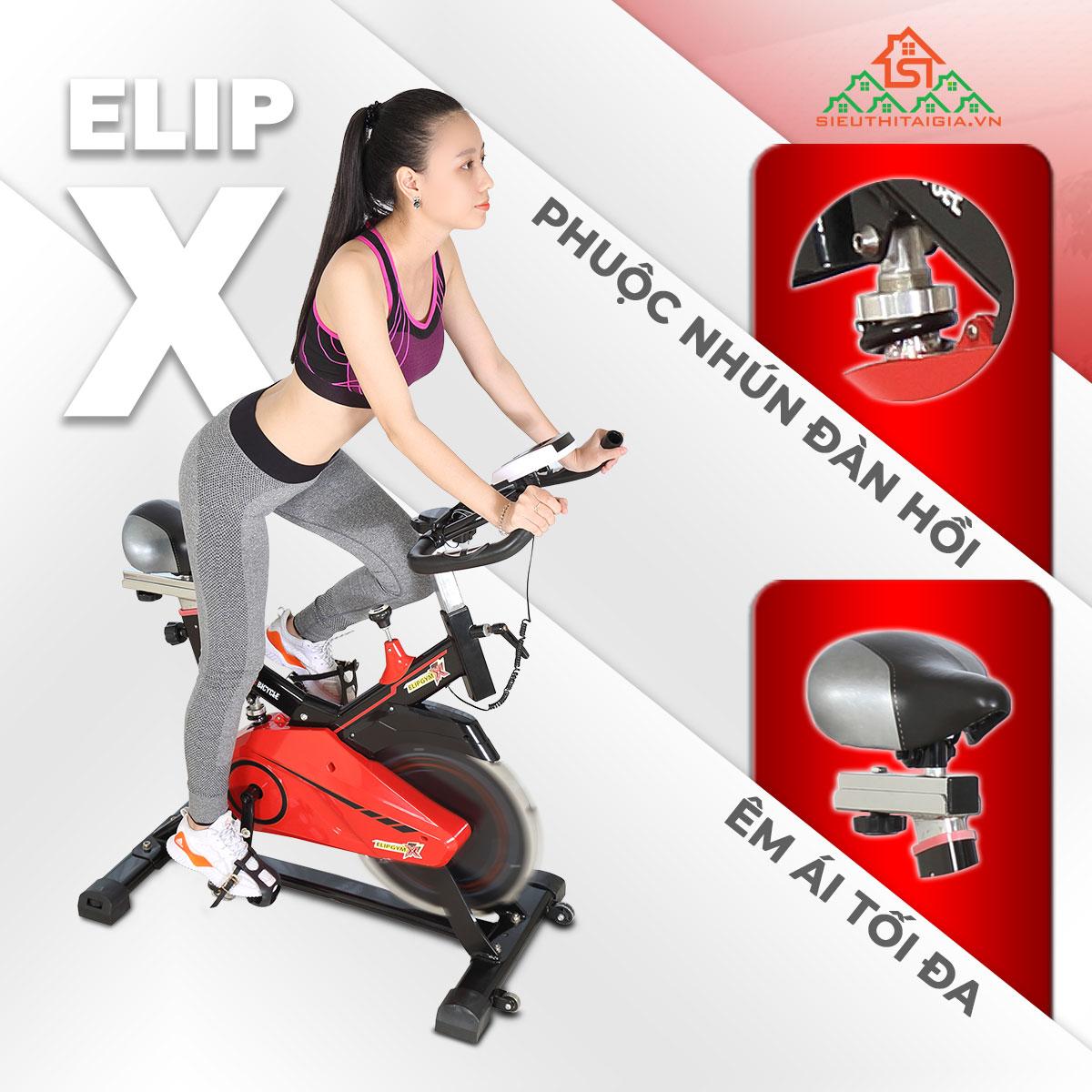 kết cấu Xe đạp tập Elip X