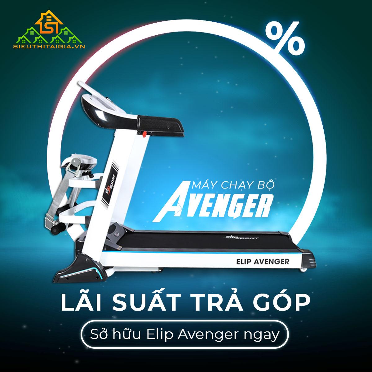 máy chạy bộ điện Elip Avenger