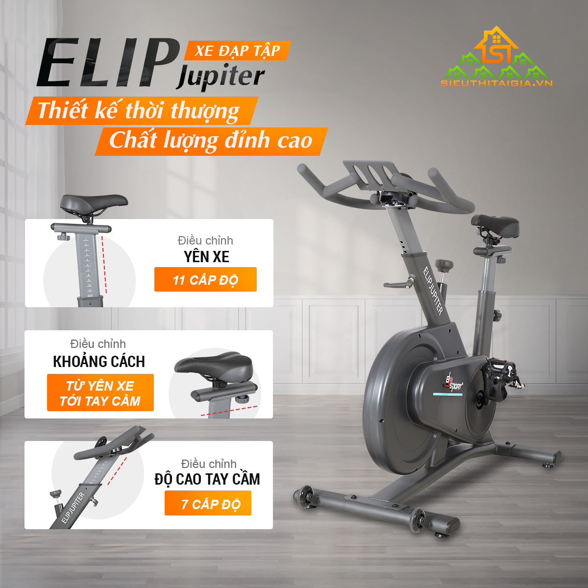 Xe đạp tập ELIP Jupiter